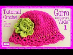 """Crochet Gorro Sombrero """"Aída"""" Niños (Parte 1) por Maricita Colours aprendemos a tejer el gorro y el bello punto fantasía para todas las edades"""