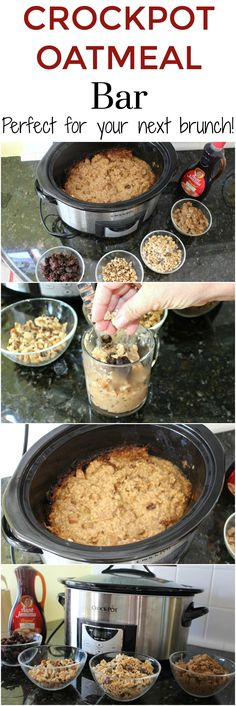 Crockpot Oatmeal Bar - the pefect dish for your next brunch