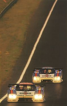 Double Martini. Lancia LC2, Le Mans sunset 1984 - Sunset.  Does that make it a two Martini evening?