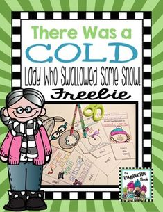 This craftivity is perfect to complete after you read the story There Was a Cold Lady that Swallowed Some Snow. Build a container after the book activities are complete. I use the container to hold game cards I provide to the students that they later take home and play.