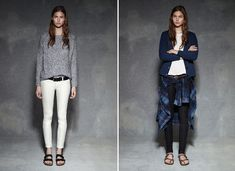 TEXTILE Elizabeth and James Fall 2013                                          The left sweater