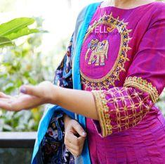 Indian Dresses, Indian Outfits, Designer Wear, Designer Dresses, Ikkat Dupatta, Blouse Desings, Stylish Kurtis, Maggam Work Designs, Other Outfits