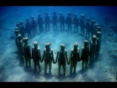 MEXICO: THE UNDERWATER MUSEUM - YouTube I never wanted to scuba dive until I saw this!