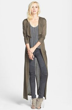 06c5d1a1ea Leith Drape Front Duster Cardigan available at  Nordstrom Long Sweater  Duster