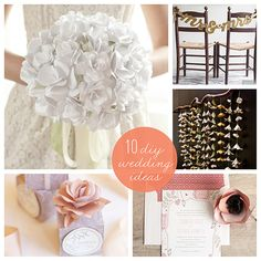Our 10 Favorite DIY Wedding Ideas - Paper flowers Toolan McKenzie Brown for you! Wedding Themes, Wedding Favors, Wedding Decorations, Wedding Invitations, Party Favors, Wedding Costs, Our Wedding, Dream Wedding, Paper Flower Garlands