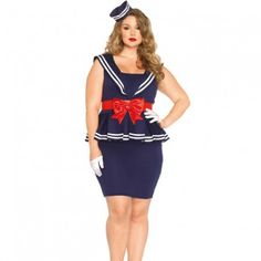 Aye Aye Amy es un disfraz de 4 piezas súper femenino y seductor de oficial de la marina que incluye un vestido con sobrefalda, cinturón con lazada, muñequeras y gorra marinera.  El vestido está medido desde el hombro y es de 107 cm, la modelo mide 185 cm y lleva una talla 1XL-2XL.  Leg Avenue tiene los productos que estás buscando comprometiéndose a ofrecer a los clientes productos innovadores, precios competitivos y una gran satisfacción.