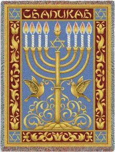 Chanukah (Tapestry Throw)
