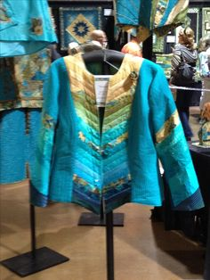 2013 Hoffmann Challenge jacket displayed at Rocky Mountain Quilt Festival August 2013.