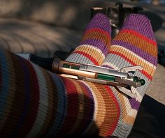 Socks for travelling in space and time (Kate Atherley, Ravelry)