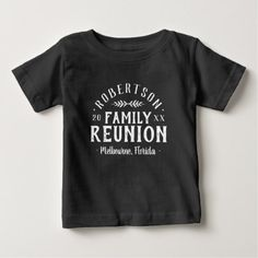 Modern Rustic Personalized Family Reunion Tee - kids kid child gift idea diy personalize design