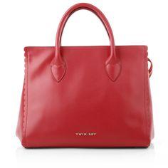 Fashionette wears business bags inred! Twin-Set Handle Bag Leather Papavero www.fashionette.de