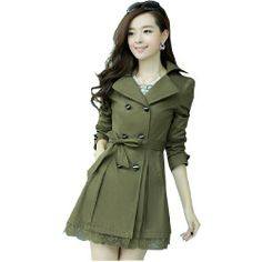 Fashion Womens Spring Double Breasted Lace Hem Slim Trench Coat Long Outerwear Fashion Season, http://www.amazon.co.uk/dp/B00HLCA2ZI/ref=cm_sw_r_pi_dp_Yfz.sb10VN853