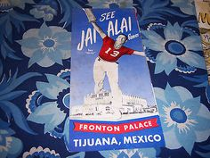1950's American Airlines Travel Brochures Mexico - Jai Alai Games Fronton Palace