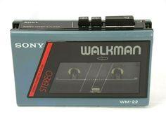 Sony, Audio Player, Retro, 1984, Vintage, Cassette Tape, Blue, Vintage Comics, Retro Illustration