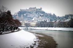 The Salzach in Salzburg, Austria
