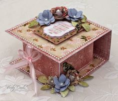 Sneaky Peek at Vintage Florals Flip over box
