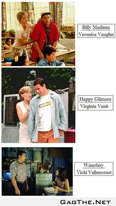 I just noticed a strange commonality between Adam Sandler Movies.