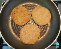 Hamburguesa de garbanzos y avena - ¡Proteína vegetal en estado puro! Grill Pan, Vegan Recipes, Vegan Food, Grilling, Recipies, Food And Drink, Veggies, Low Carb, Snacks