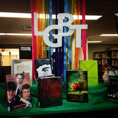 This #LGBT #library display is for LGBT History Month in Oct Lake Forest High School Library