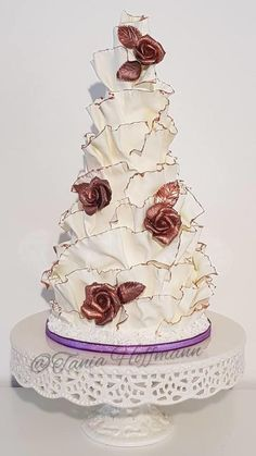 40th birthday surprise modelling chocolate ruffles by Grans Cakes