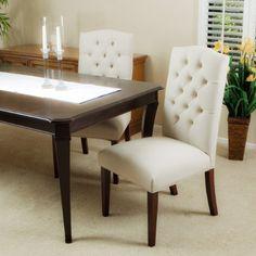 Clark Elegant Upholstered Dining Chairs w/ Button Tufted ... https://www.amazon.com/dp/B007RH62U6/ref=cm_sw_r_pi_dp_x_D2b1yb6B6PZRJ