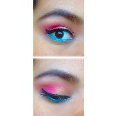 bhcosmetics #makeup #dulcecandy #sunsetcabana #colorful #eyeshadow #pink #gold #eyeliner #mascara #turquoise #browpowder