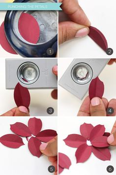 Easy Paper Punch Poinsettias | Damask Love Blog