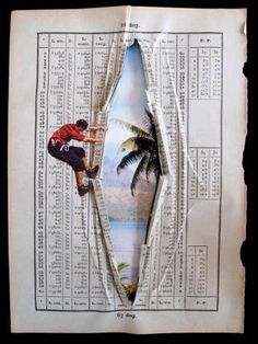 Brilliant Book Collages  The Parallèle Exhibition by Erwan Soyer Features Alluring Artwork #collage #art - clever!