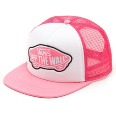 Vans Beach Girl Trucker Hat Neon Pink ❤ liked on Polyvore a8bd575f002