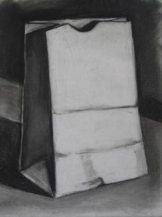 Charcoal Drawing Ideas Brown bag art- includes Powerpoint (did this with my summer classes a few years back! Teaching Drawing, Drawing Lessons, Teaching Art, Art Lessons, Drawing Ideas, Drawing Tips, 8th Grade Art, Observational Drawing, Value In Art