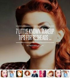 7 Little Known Makeup Tips for Redheads . 7 Known Tips for Redheads . Red Hair Makeup, Blue Eye Makeup, Eye Makeup Tips, Makeup Trends, Makeup Inspo, Beauty Makeup, Makeup Ideas, Fair Skin Makeup, Makeup Stuff