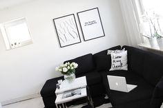 Therez.se - #livingroom #blackandwhite #black #white #prints #sealoe