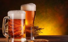 Download wallpapers beer, glasses of beer, hops for desktop with resolution 2560x1600. High Quality HD pictures wallpapers