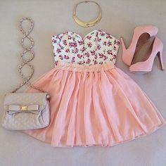 Conjunto de ropa, pollera, pink, rosa || More Fashion at www.misskady.com ||