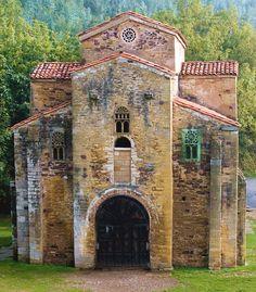 Architecture Romane, Romanesque Architecture, Historical Architecture, Art And Architecture, Medieval Life, Medieval Art, Pre Romanesque, Architecture Religieuse, Asturias Spain