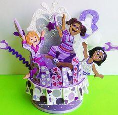 Slumber party Birthday cake topper for children pjs party | kharygoarts - Children's on ArtFire