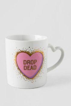 Drop Dead Heart Handle Mug