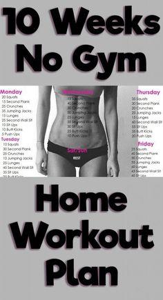 10 Week No-Gym Home Workout Plan by malinda