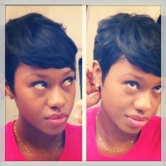 Chop! The pixie is back. Kinky,Curly,Relaxed,Extensions Board