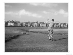 Driving from the 16th Hole on Wanstead Golf Course Essex Giclee Print at AllPosters.com