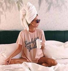 early morning, pyjama look, vacation, turban Samantha Maria, Hippie Stil, Poses Photo, Foto Instagram, Disney Instagram, My Mood, Current Mood, Mode Inspiration, Photo Tips