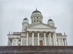 Helsinki Cathedral, Finland in winter