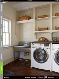 Laundry room, love the utility sink