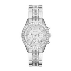 Relic® Bailey Womens Crystal-Accent Silver-Tone Bracelet Watch ZR15801  found at @JCPenney