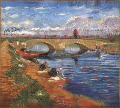 Vincent van Gogh: The Gleize Bridge over the Viguérat Canal.  Oil on canvas. Arles, 1888. Private collection.