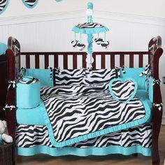 Purple Funky Zebra Baby Bedding - 9 pc Crib Set only $189.99