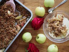 Omena-Kaurapaistos Something Sweet, Oatmeal, Apple, Baking, Fruit, Breakfast, Food, The Oatmeal, Apple Fruit