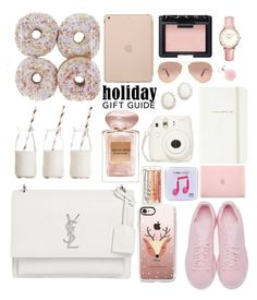 """Gift Guide : Pink"" by tamaramanhardt ❤ liked on Polyvore featuring Black Apple, Kate Spade, Giorgio Armani, Yves Saint Laurent, Incase, Casetify, Fujifilm, Dress My Cupcake, NARS Cosmetics and adidas Originals"