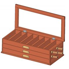 9 Free DIY Jewelry Box Plans: Craftsmanspace's Free Jewelry Box Plan