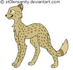 Unnamed adopted cheetah character